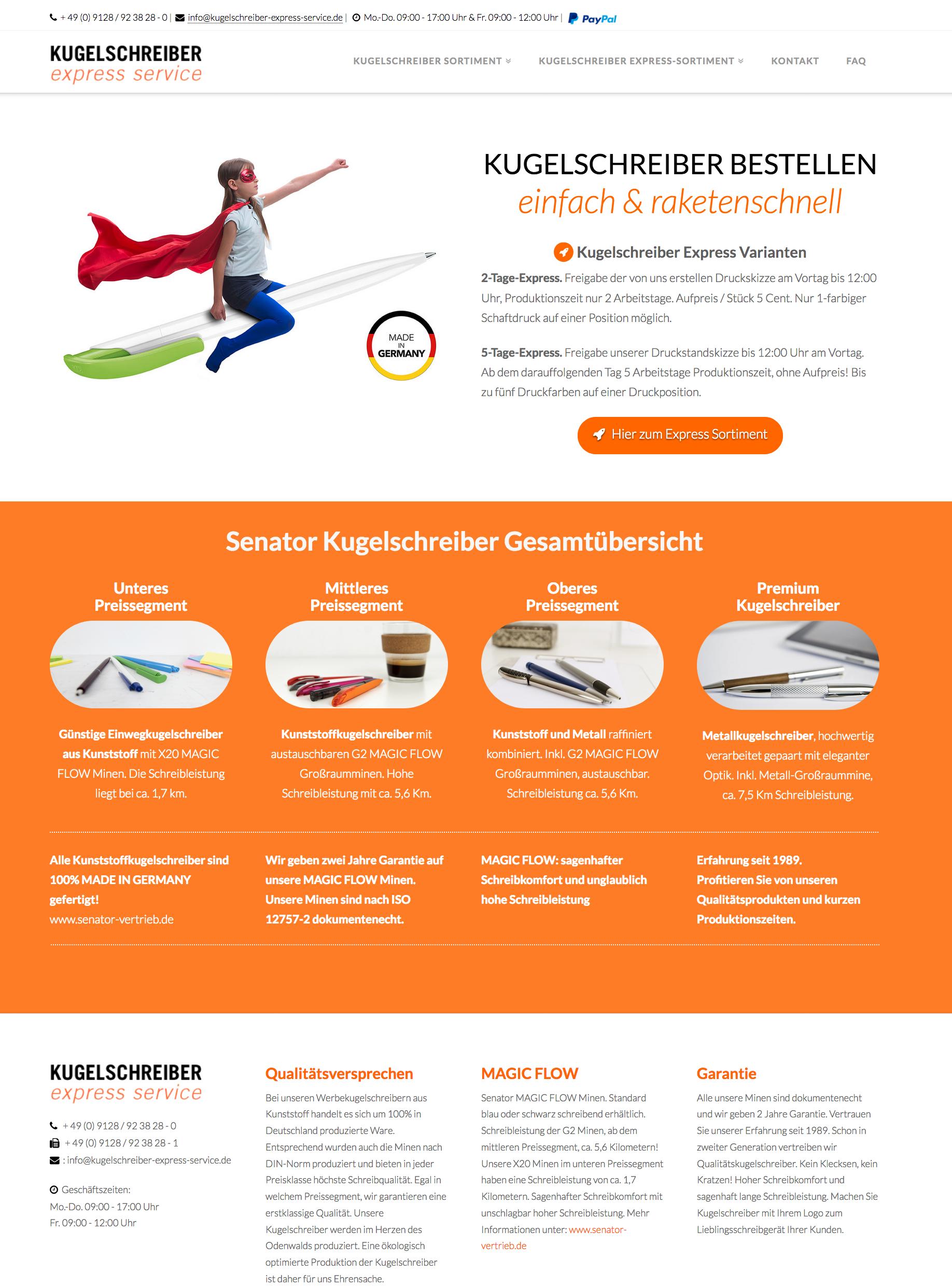 Homepage Kugelschreiber Express Service