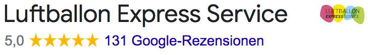 Luftballon bedrucken Google Bewertung